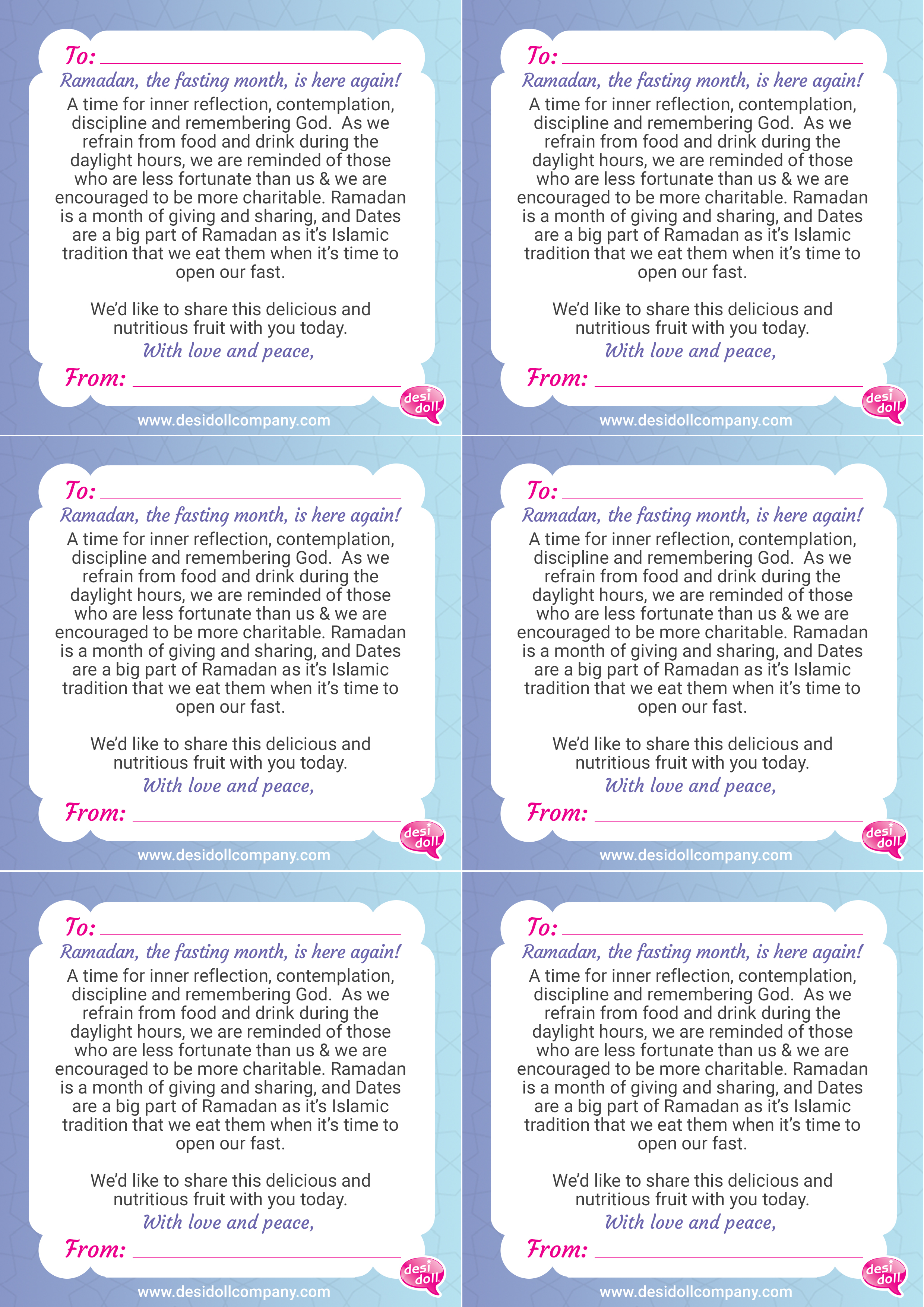 We've created a fun template for your friendly gift notes! Share ...